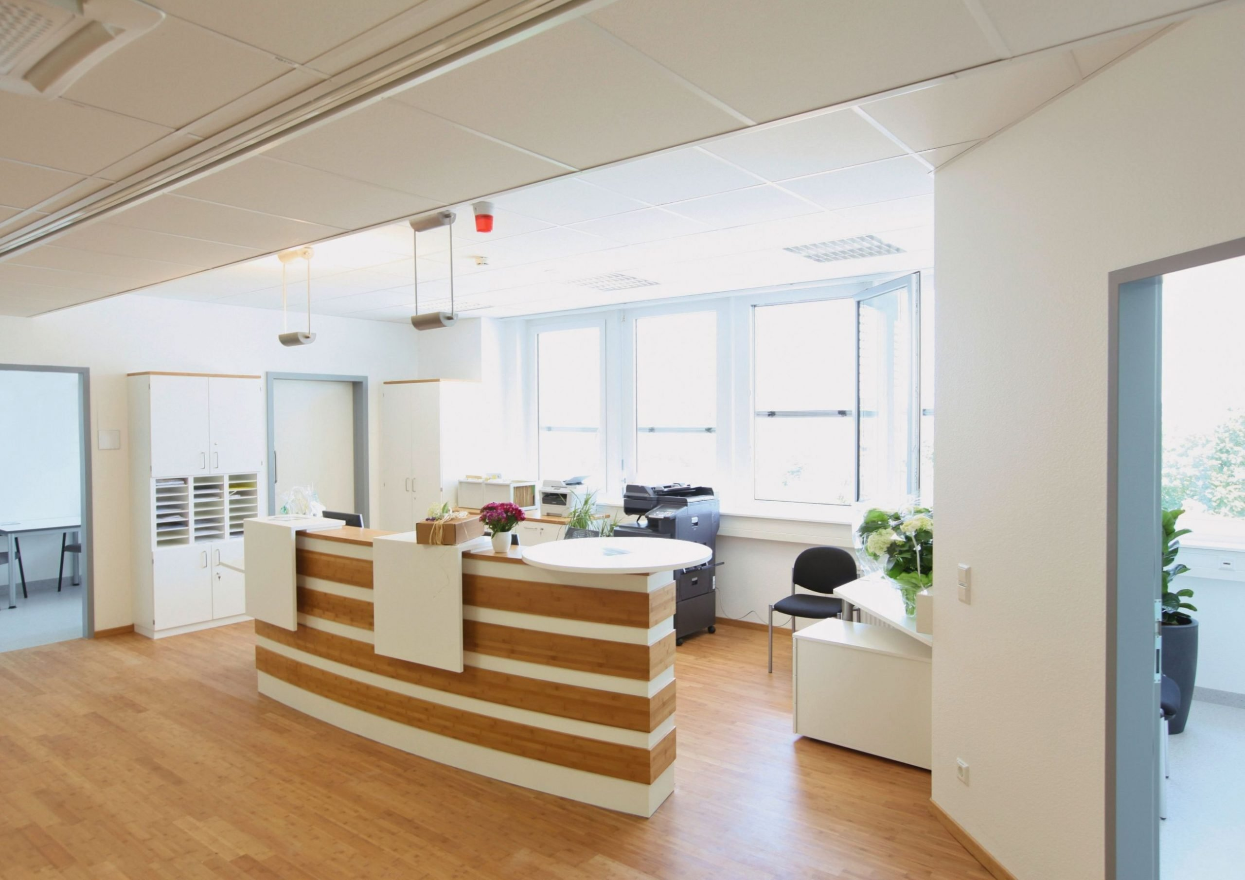 Medical office reception after a refurbishment